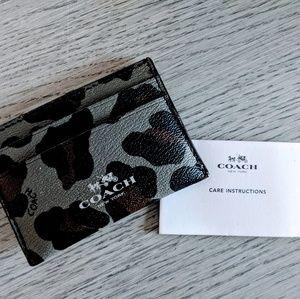 Coach Leopard Print Card Holder